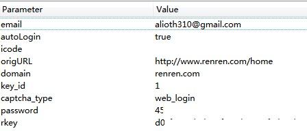 登录人人网post的数据